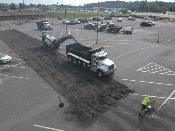 Paved Parking Lot - Food Lion