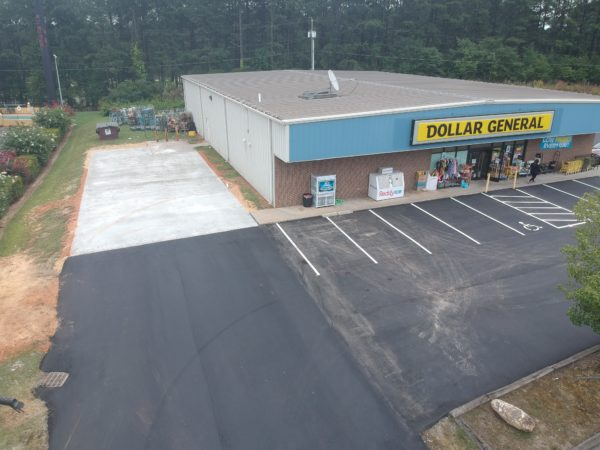 Parking Lot Asphalt Paving - Dollar General, Biscoe, NC
