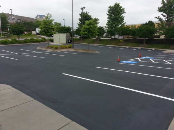 Parking Lot Line Striping - Jersey Mike's Concord